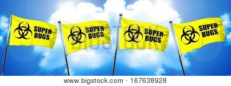 Super bugs flag, 3D rendering