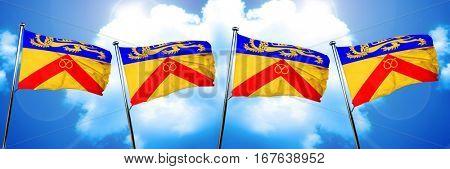 Staffordshire flag, 3D rendering