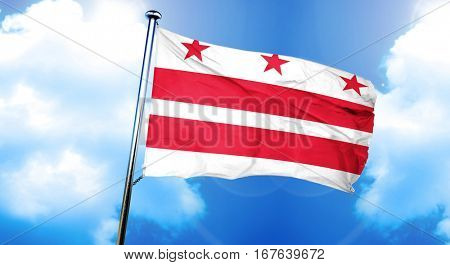Washongton dc flag, 3D rendering