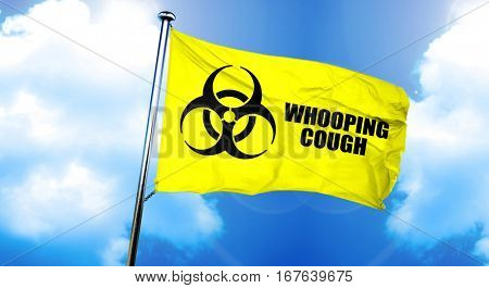 Whooping cough flag, 3D rendering