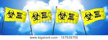 West nile virus flag, 3D rendering