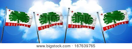 Woodland flag, 3D rendering