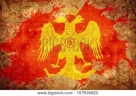 Vintage Byzatine eagle flag