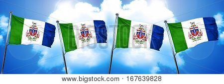 Yukon territory flag, 3D rendering