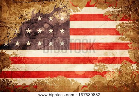 Vintage Old glory american early design flag