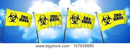 Zika virus flag, 3D rendering