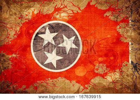 Vintage tennessee flag