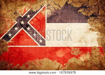 Vintage mississippi flag