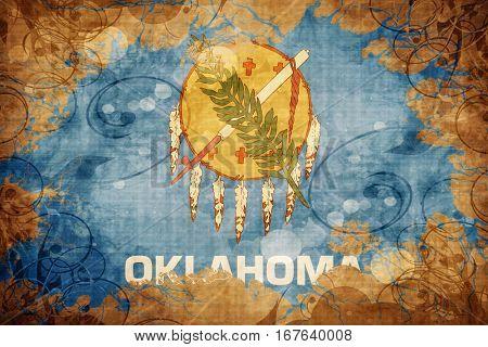 Vintage oklahoma flag