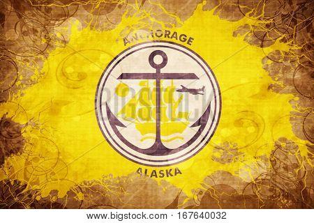 Vintage anchorage flag