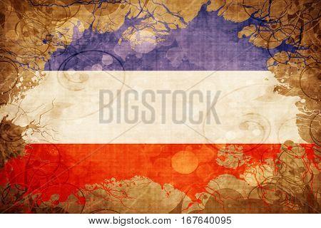 Vintage Schleswig holstein flag