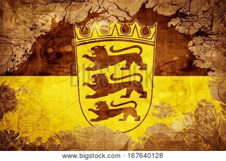 Vintage Baden Wurttemberg flag