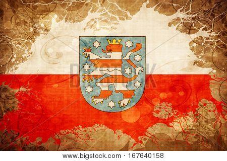 Vintage Thuringia, Thuringen flag