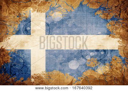Vintage Shetland flag