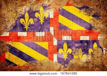 Vintage bourgogne flag