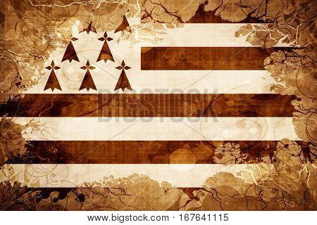 Vintage brittany, bretagne flag