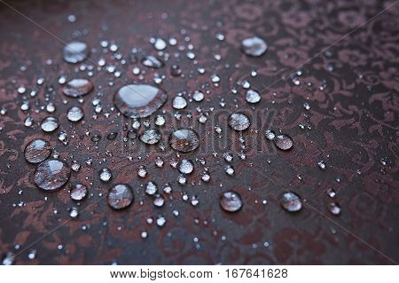 beautiful fabric with water drops on it