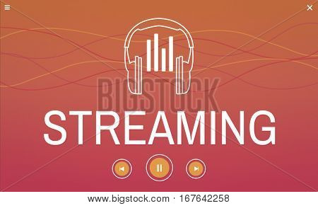 Digital media music streaming audio leisure