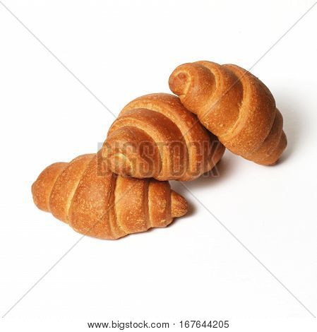 Croissants over white background, Close-up Croissants  Isolated