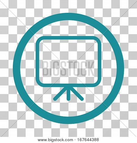 Presentation Screen rounded icon. Vector illustration style is flat iconic symbol inside a circle soft blue color transparent background. Designed for web and software interfaces.