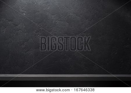 board on black background texture
