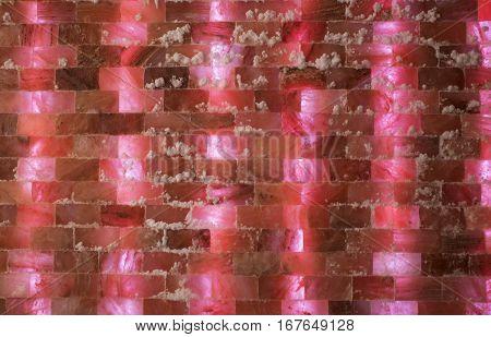 Pink salt room in the spa centar