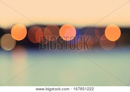 Abstract blurred bokeh background. Vintage color.