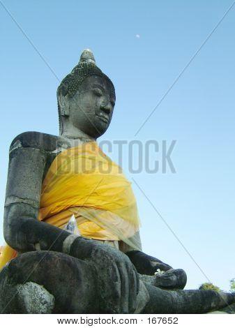 Buddha And Moon.