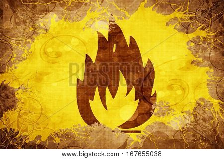 Grunge vintage Flammable hazard sign
