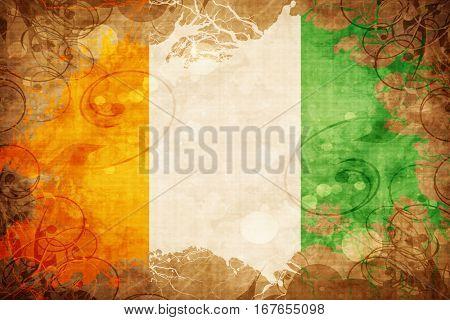 Grunge vintage Ivory coast flag