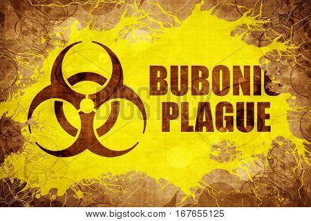 Grunge vintage Bubonic plague