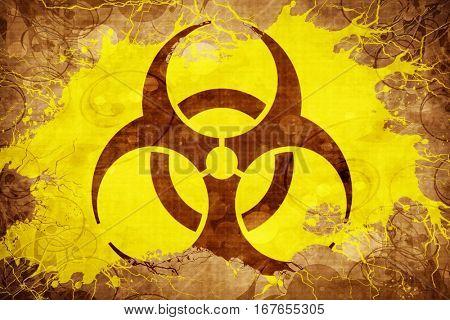 Grunge vintage Biohazard sign