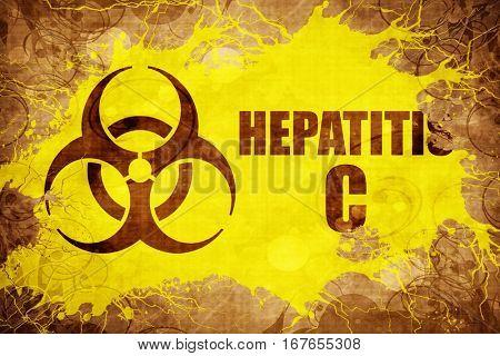 Grunge vintage Hepatitis C