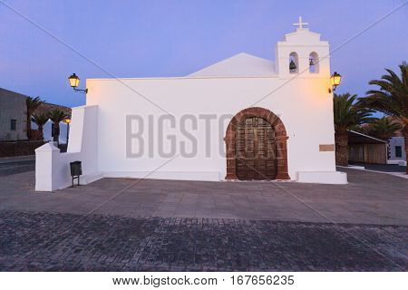 Old but beautiful church buildings in Femes, Lanzarote