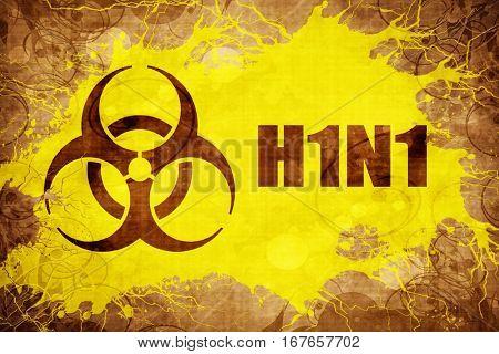 Grunge vintage H1N1