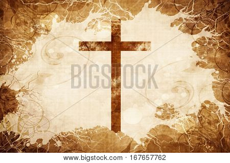Grunge vintage Christian cross
