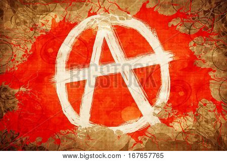 Grunge vintage Anarchist sign