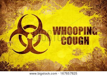 Grunge vintage Whooping cough