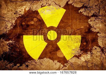 Grunge vintage Radioactive warning
