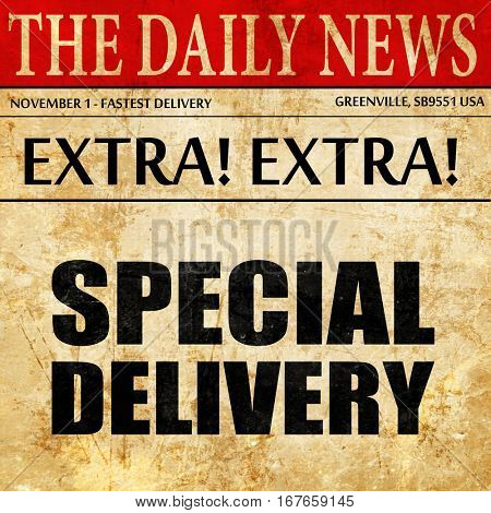 special delivery, newspaper article text