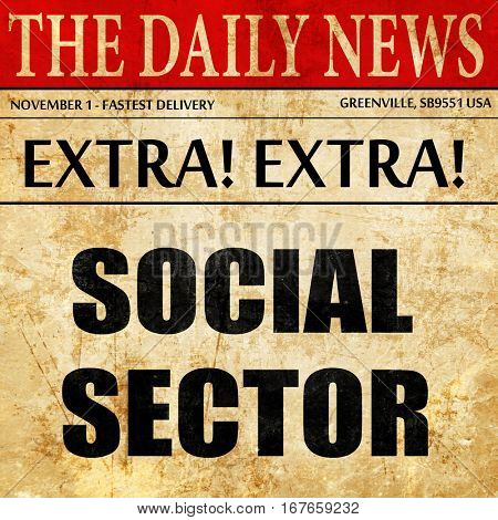 social sector, newspaper article text