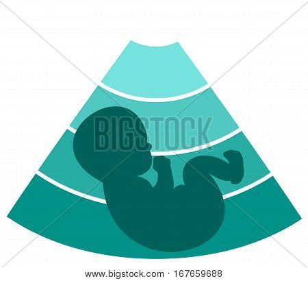 Fetus silhouette design - vector medical background