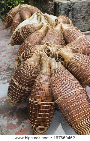 Vietnam Old Traditional Bamboo Fish Trap
