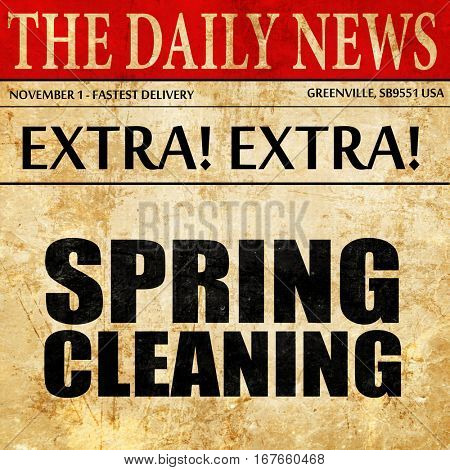spring cleaning, newspaper article text