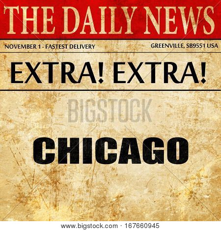 chicago, newspaper article text