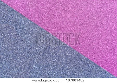 Blue And Pink Shiny Paper Background. Top View.