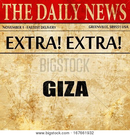giza, newspaper article text