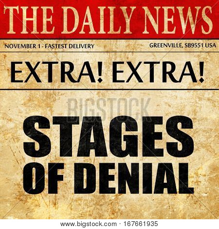 stages of denial, newspaper article text
