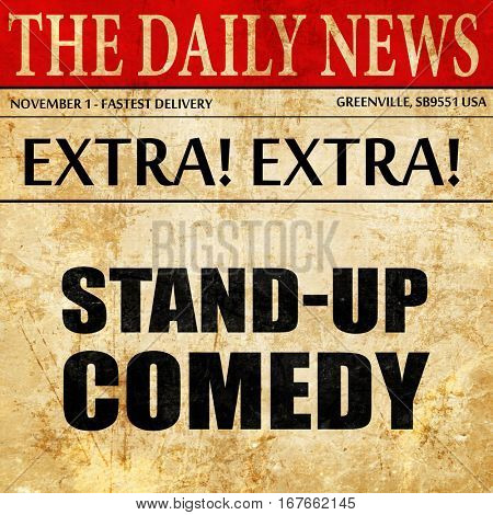 stand-up comedy, newspaper article text