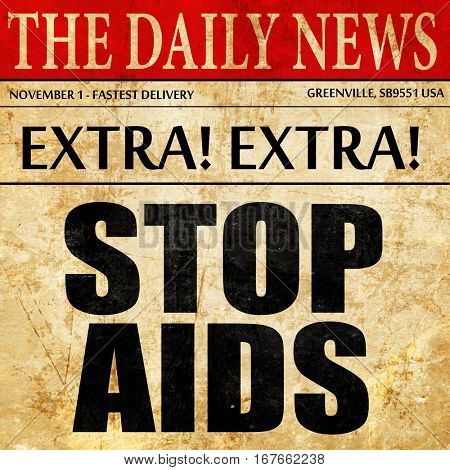 stop aids, newspaper article text